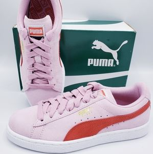 Puma Suede Classic Pink Red Hibiscus